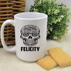 Personalised Coffee Mug -Candy Skull