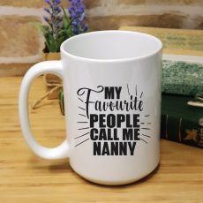 Nans Favourite People Personalised Coffee Mug
