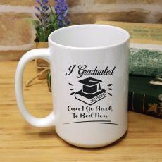Personalised Graduation Coffee Mug - Back To Bed
