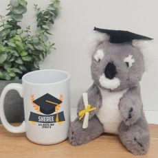 Personalised Graduation Coffee Mug and Koala Set