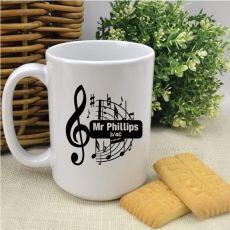 Personalised Music Teacher Coffee Mug