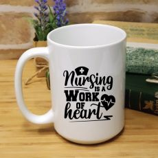 Personalised Nurse Graduation Coffee Mug - Work Of Heart