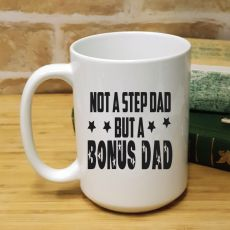 StepDad Personalised Coffee Mug 15oz - Bonus Dad