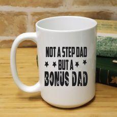 StepDad Personalised Coffee Mug 15oz - Bonus Dad