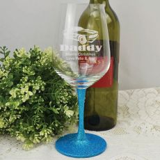 Dad  Engraved Personalised Wine Glass 450ml