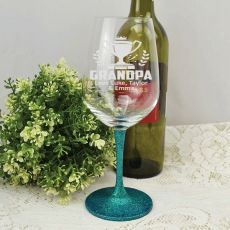 Grandpa  Engraved Personalised Wine Glass 450ml