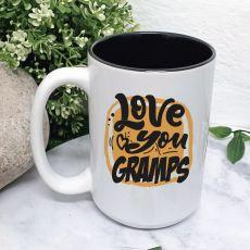 Love You Gramps Coffee Mug with Message