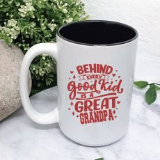 A Great Grandpa Personalised Coffee Mug with Message