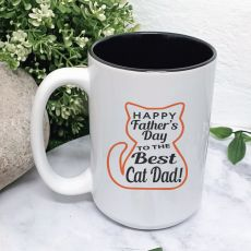 Cat Daddy Fathers Day Coffee Mug with Message