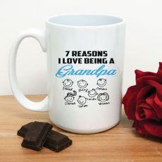 Reasons I Love being a Grandpa Coffee Mug 15oz