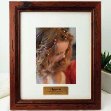 Birthday Personalised Photo Frame 5x7 Mahogany Wood