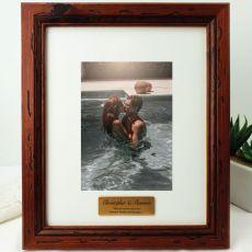 Anniversary Personalised Photo Frame 5x7 Mahogany Wood