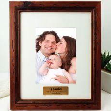 Godfather Personalised Photo Frame 5x7 Mahogany Wood
