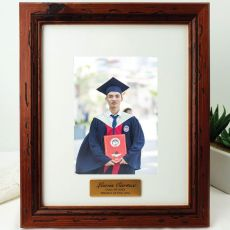 Graduation Personalised Photo Frame 5x7 Mahogany Wood
