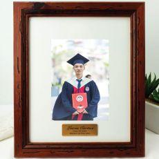 Graduation Personalised Photo Frame 5x7 Mahogany Wood