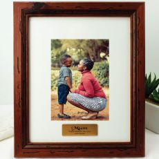 Mum Personalised Photo Frame 5x7 Mahogany Wood
