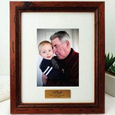 Pop Personalised Photo Frame 5x7 Mahogany Wood