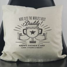 World's Best Dad Personalised Cushion Cover