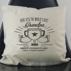 World's Best Grandpa Personalised Cushion Cover