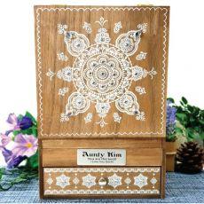 Aunt Wooden Jewellery Box Mandala