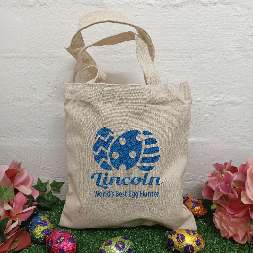 Personalised Easter Egg Basket Treat Bag