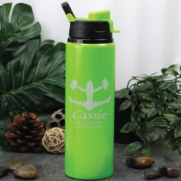 Image of Cheerleading Coach Drink Bottle - Green{empty_space}