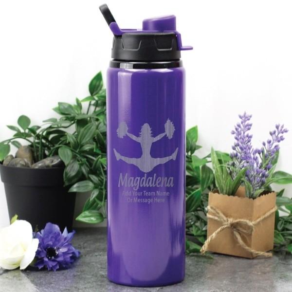 Image of Cheerleading Coach Drink Bottle - Purple{empty_space}