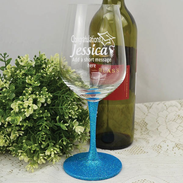 Image of Personalised Graduation Wine Glass{empty_space}