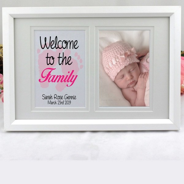 Image of Personalised Baby Girl Typography Frame{empty_space}