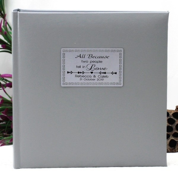 Image of Personalised Wedding Photo Album - 200 - Silver{empty_space}