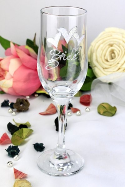 Image of Bride Champagne Glass Flute{empty_space}