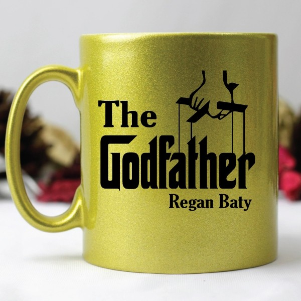 Image of The Godfather Coffee Mug - Gold{empty_space}