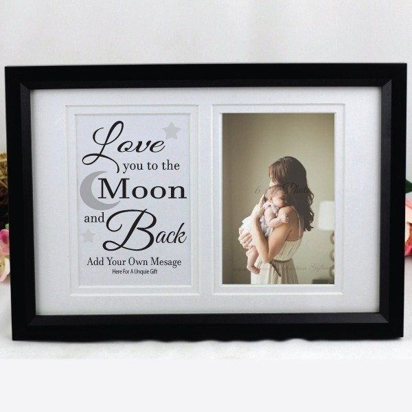 Image of Love You To The Moon Typography Frame{empty_space}