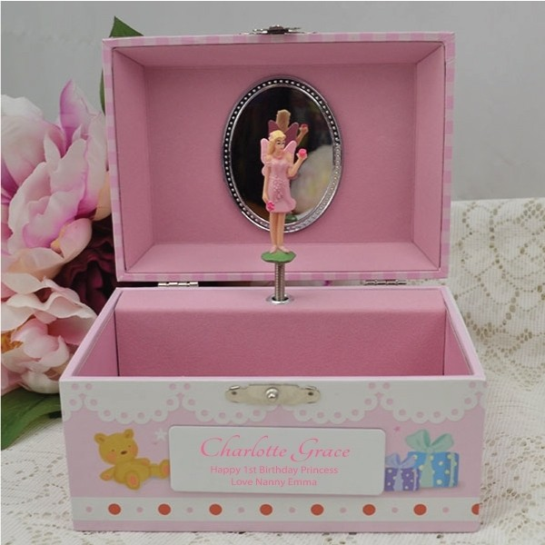Image of Personalised 1st Birthday Music Box{empty_space}
