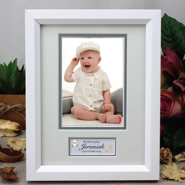Image of Personalised Naming Day Photo Frame{empty_space}