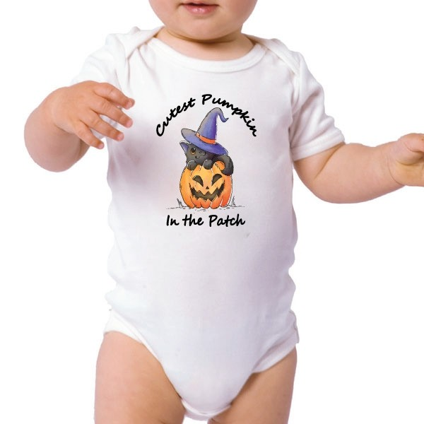 Image of Halloween Baby Bodysuit-Cutest Pumpkin{empty_space}