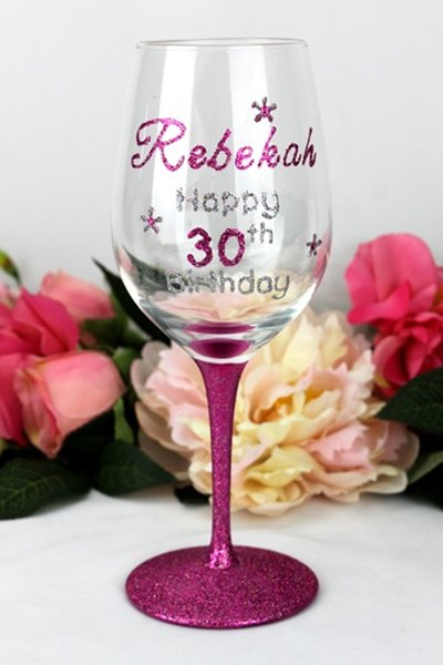 Image of 30th Birthday Wine Glass - Personalised Gift{empty_space}