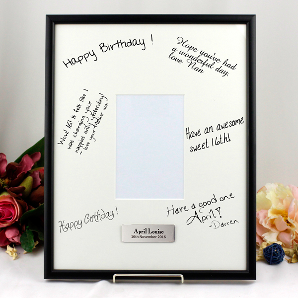 Image of 50th Birthday Signature Frame - Personalised Gift{empty_space}
