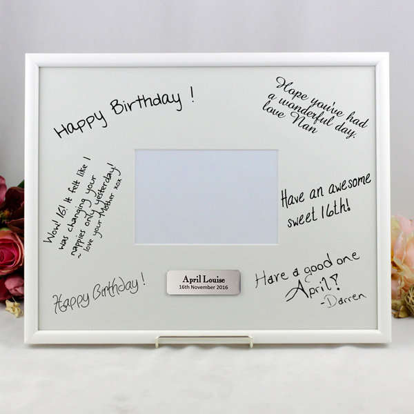 30th Birthday Gift 30th Birthday Signature Frame Personalised
