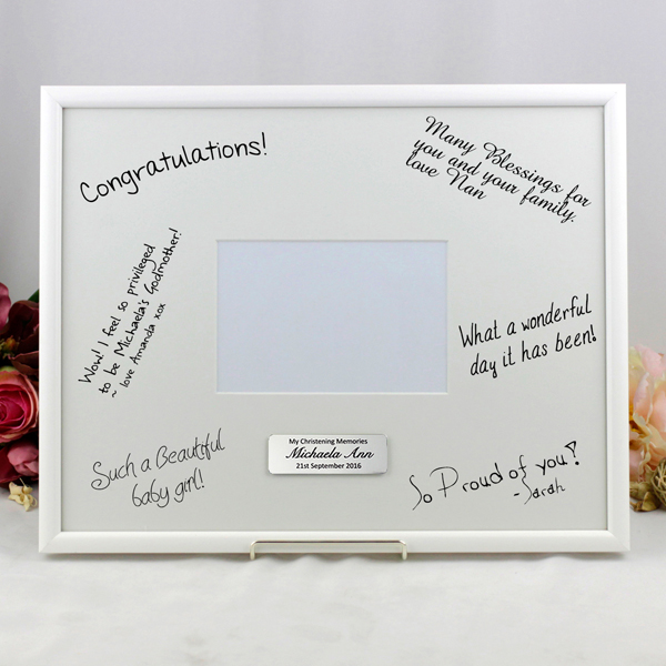Image of Personalised Christening Signature Photo Frame Gift{empty_space}