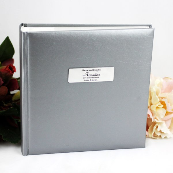 Image of 60th Birthday Silver Album - Personalised Gift{empty_space}