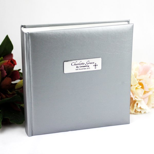 Image of Personalised Silver Christening Album{empty_space}