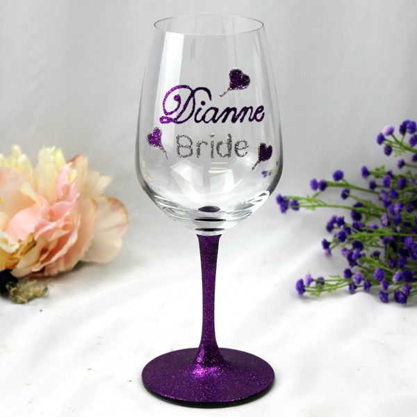 Image of Bride Butterfly Glass - Personalised Gift{empty_space}