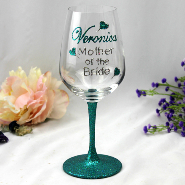 Image of Mother of the Bride Personalised Wine Glass{empty_space}