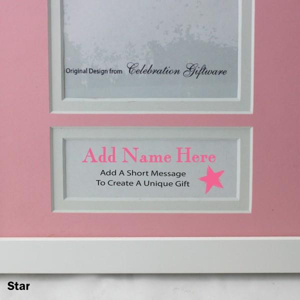 personalised baby photo frame pink ebay