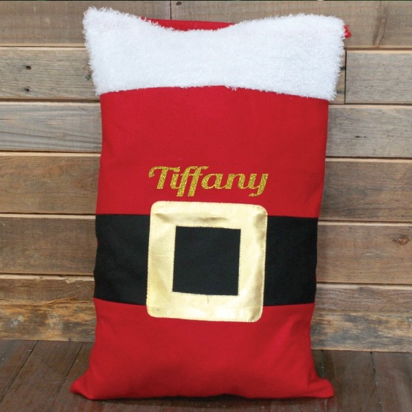 Image of Personalised Santas Belt Christmas Sack{empty_space}