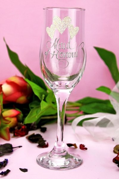 Image of Maid of Honour Champagne Glass{empty_space}