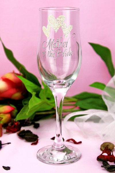 Image of Mother of the Bride Champagne Glass{empty_space}