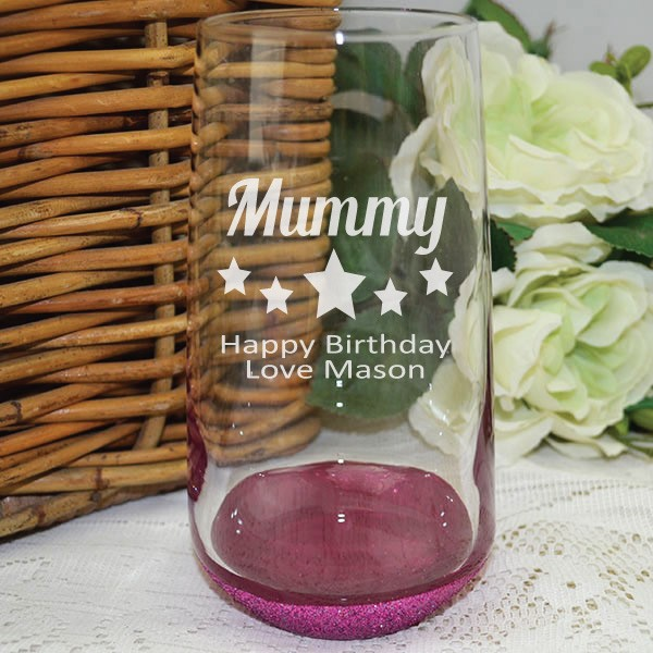 Image of Mum Personalised Engraved Glass Tumbler{empty_space}