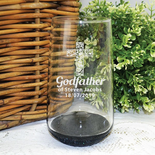 Image of Godfather Engraved Glass Tumbler - Personalised GIft{empty_space}